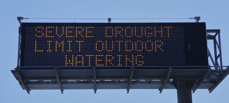 Severe drought signage